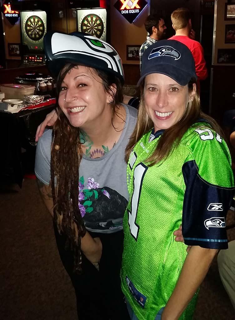 Archies Bar seahawk fans